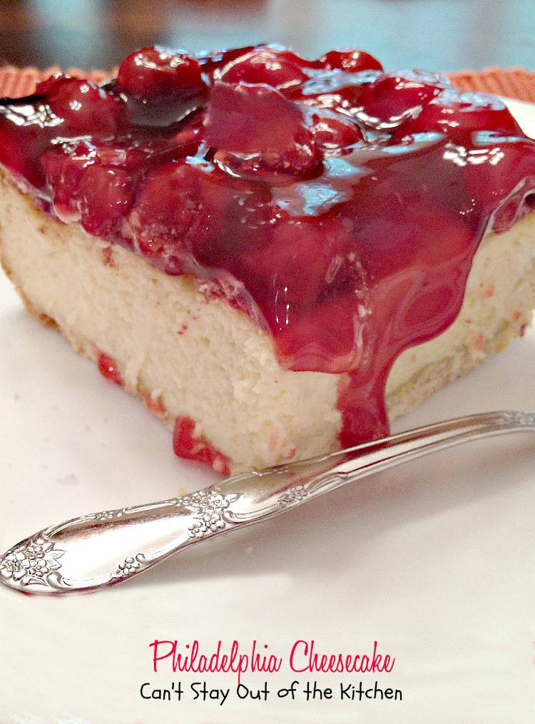 Philidelphia Cream Cheesecake Recipe  Philadelphia Cheesecake Can t Stay Out of the Kitchen