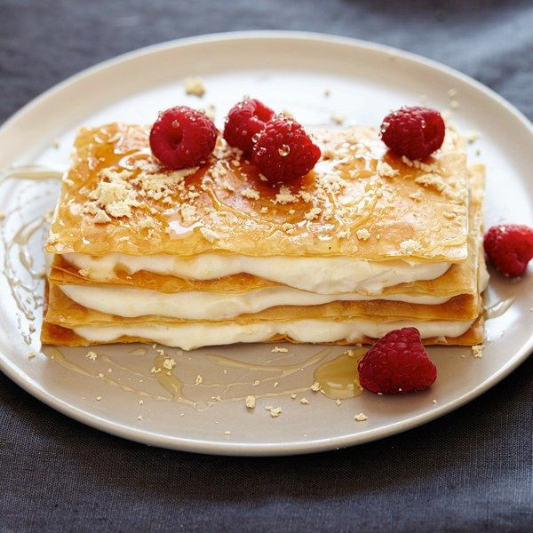 Phyllo Dough Dessert Recipes  Halvah Mille Feuilles Recipe