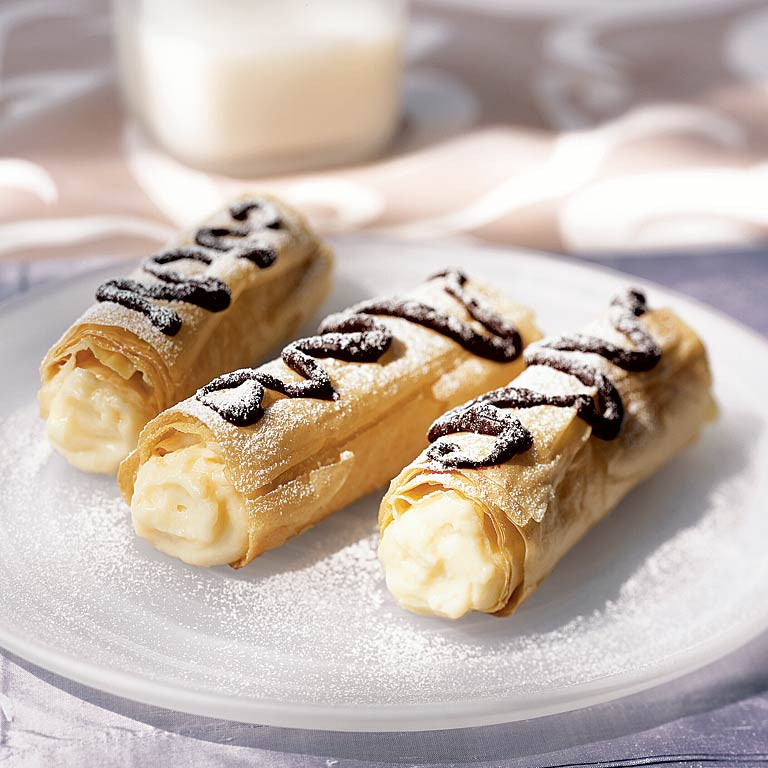Phyllo Dough Dessert Recipes  Phyllo Eclairs Recipe