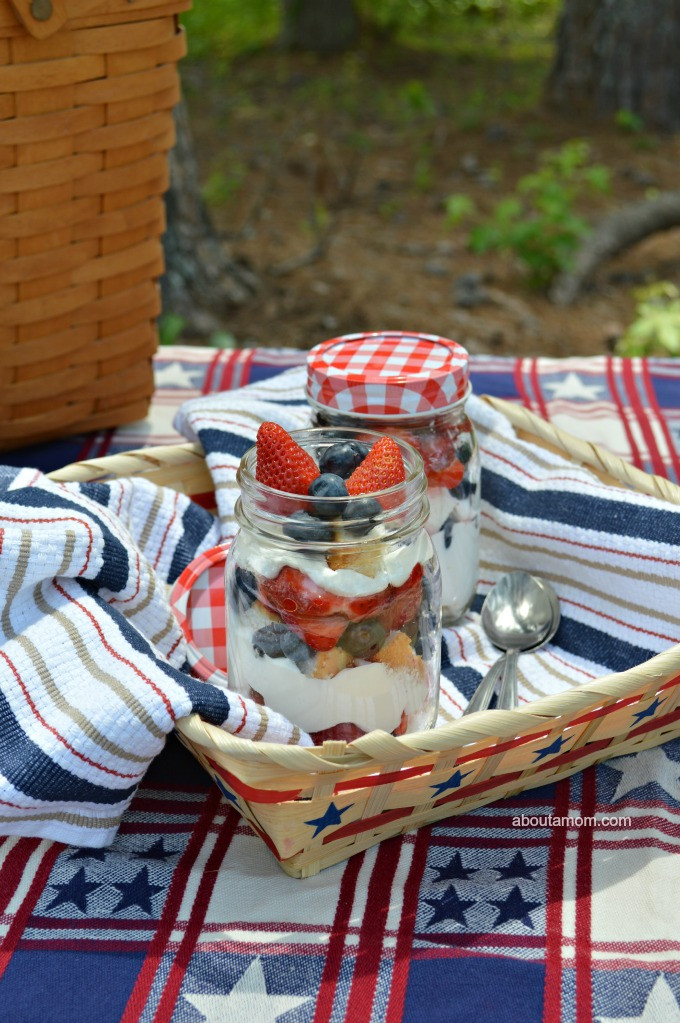 Picnic Desserts For Hot Weather  Picnic Perfect Patriotic Berry Trifle About A Mom