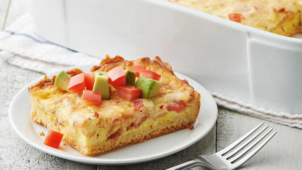 Pillsbury Breakfast Recipe  Cheesy California Breakfast Casserole recipe from