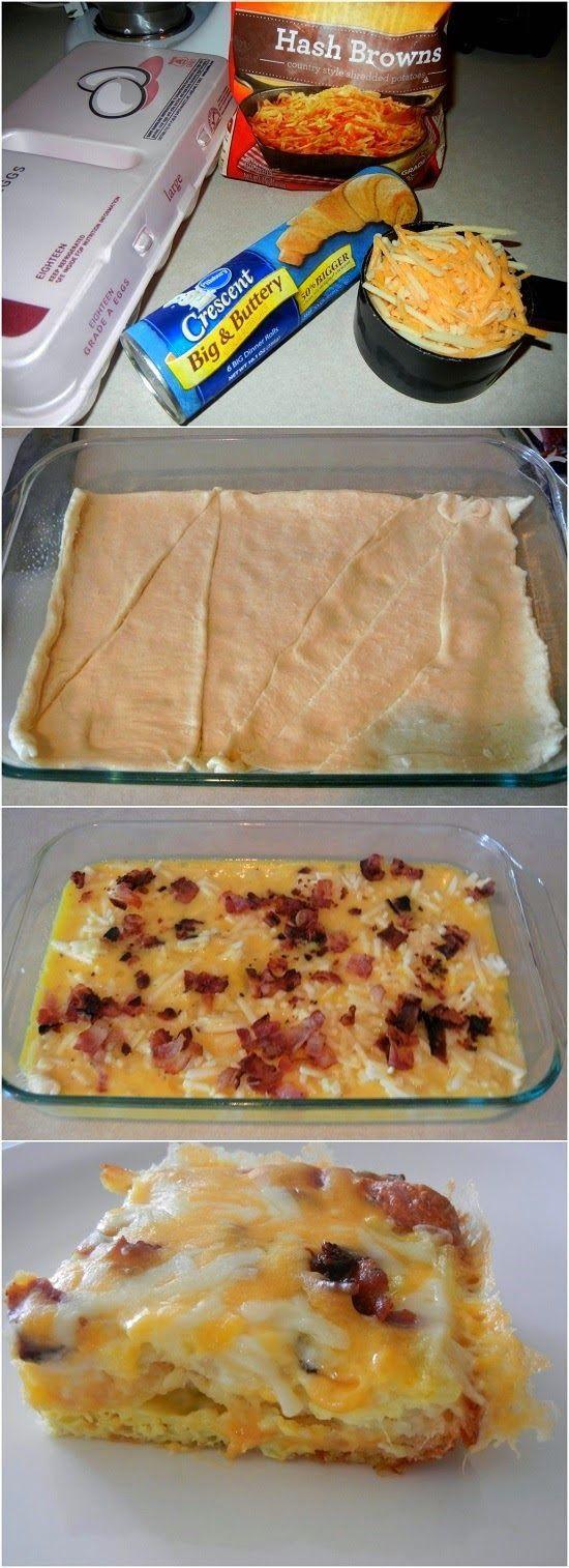 Pillsbury Crescent Roll Breakfast Casserole Recipes  17 Best ideas about Crescent Roll Breakfast on Pinterest