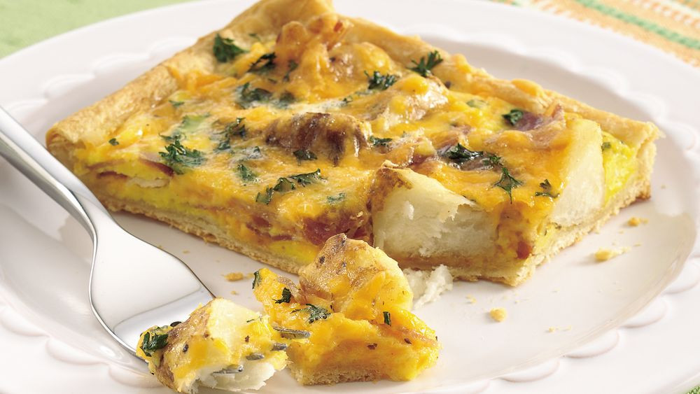 Pillsbury Crescent Roll Breakfast Recipes  Bacon and Potato Breakfast Pizza Recipe Pillsbury