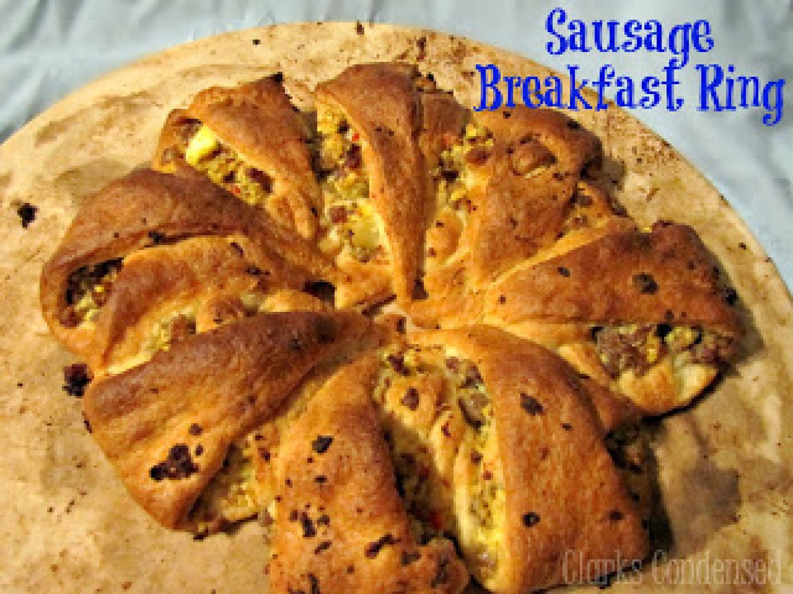 Pillsbury Crescent Roll Breakfast Recipes  Sausage Crescent Roll Breakfast Ring Recipe