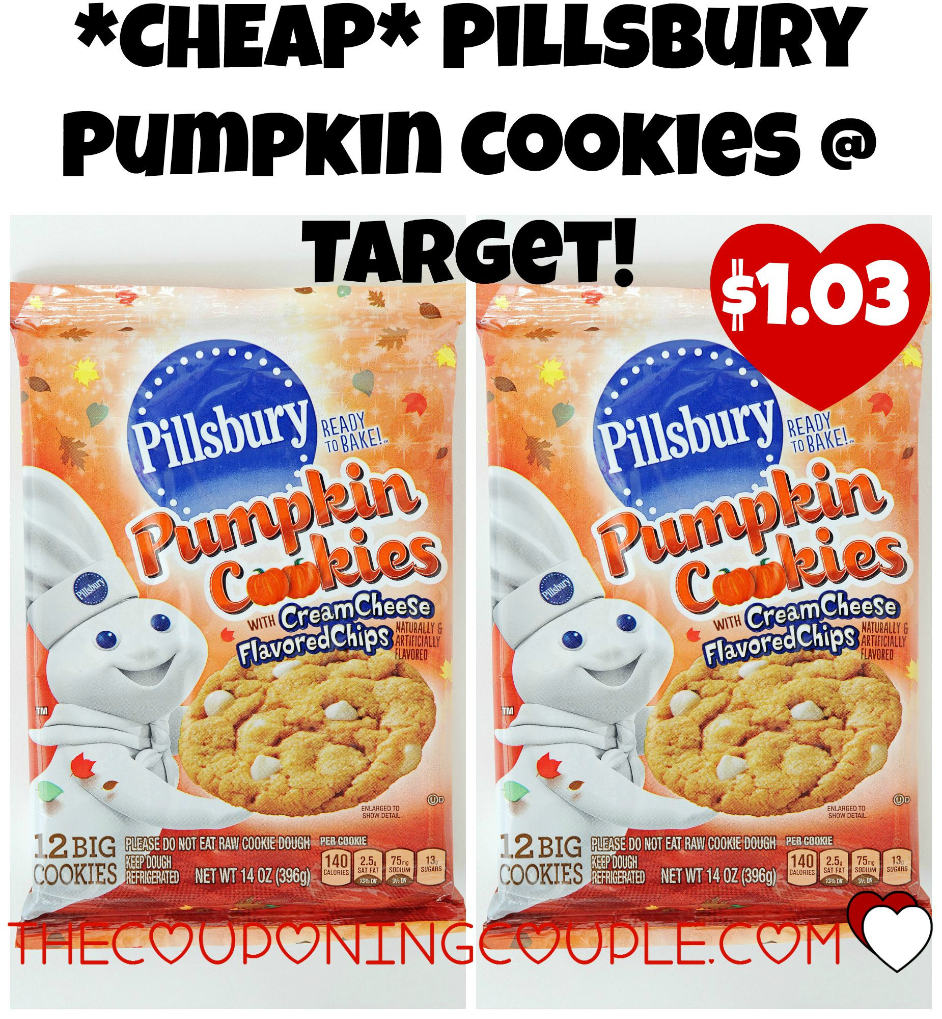 Pillsbury Pumpkin Cookies  CHEAP Pillsbury Pumpkin Cookies Tar