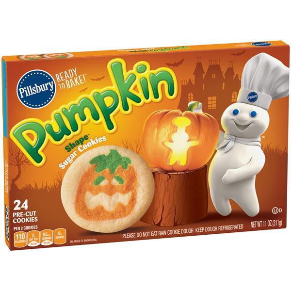 Pillsbury Pumpkin Cookies  Pillsbury Ready to Bake Pumpkin Shape Sugar Cookies