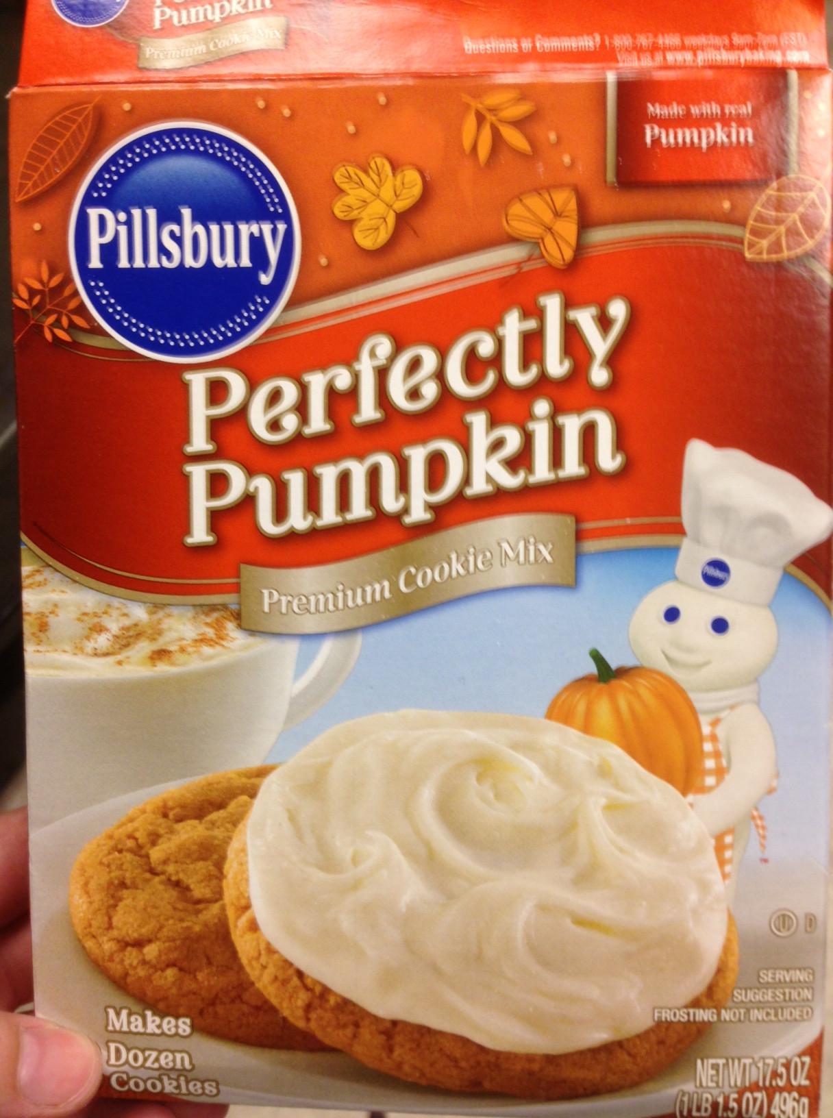 Pillsbury Pumpkin Cookies  pillsbury perfectly pumpkin cookie mix recipes
