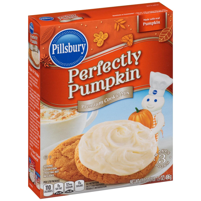 Pillsbury Pumpkin Cookies  Pillsbury Perfectly Pumpkin Flavored Cookie Mix 17 5 Oz
