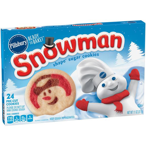 Pillsbury Sugar Cookies  Pillsbury Ready to Bake Snowman Shape Sugar Cookies
