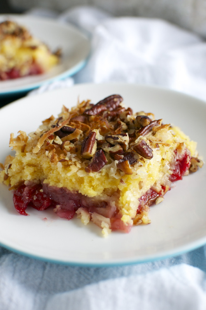 Pineapple Dump Cake  Cherry Pineapple Dump Cake Stuck Sweet