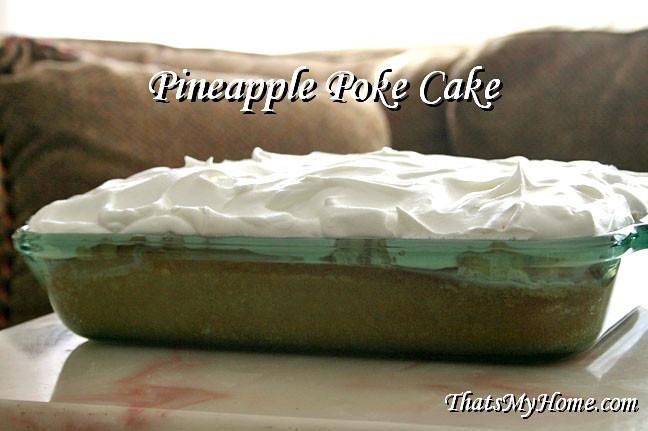 Pineapple Poke Cake  Pineapple Poke Cake Recipes Food and Cooking