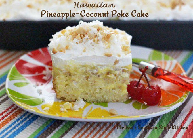 Pineapple Poke Cake  Hawaiian Pineapple Coconut Poke Cake