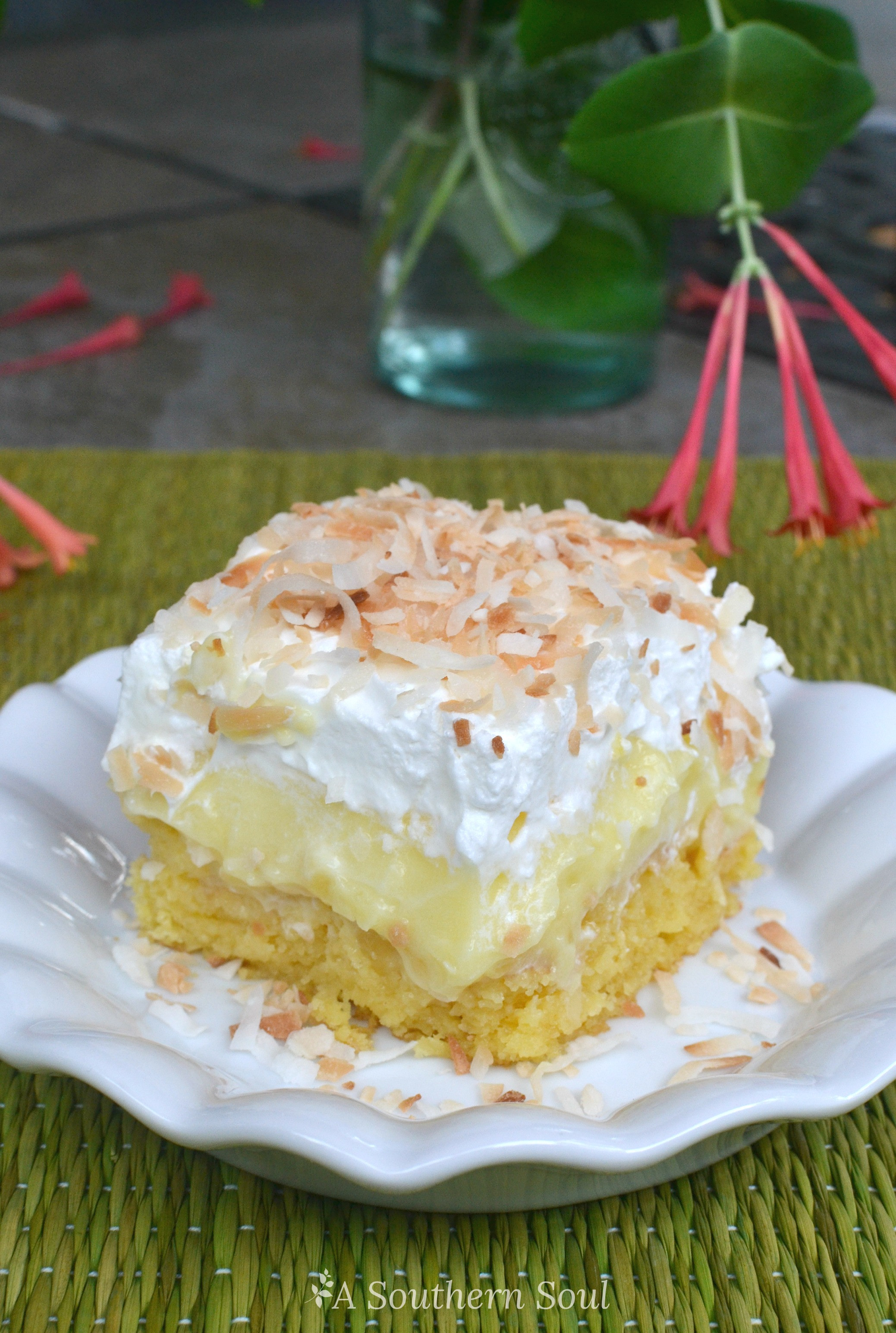 Pineapple Poke Cake  Pineapple Coconut Poke Cake A Southern Soul