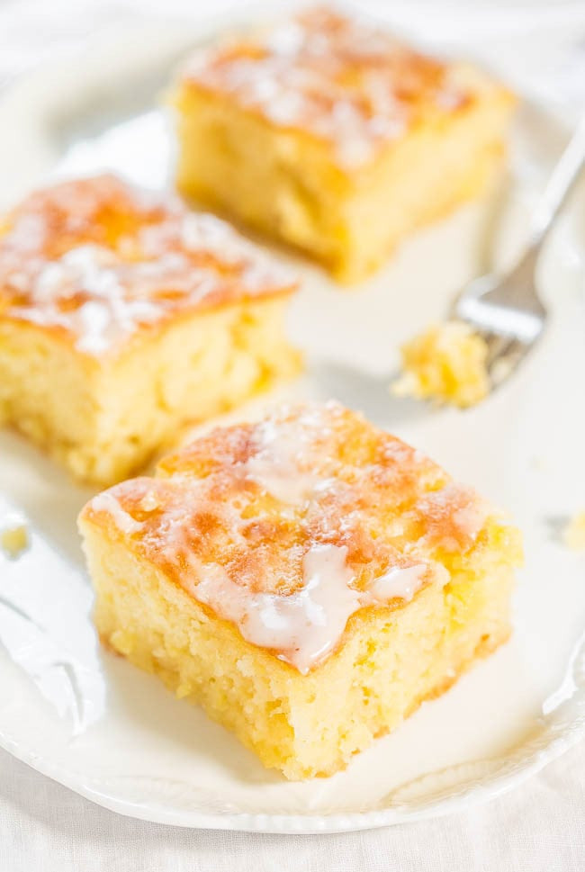 Pineapple Poke Cake  Pineapple Poke Cake With Pineapple Glaze
