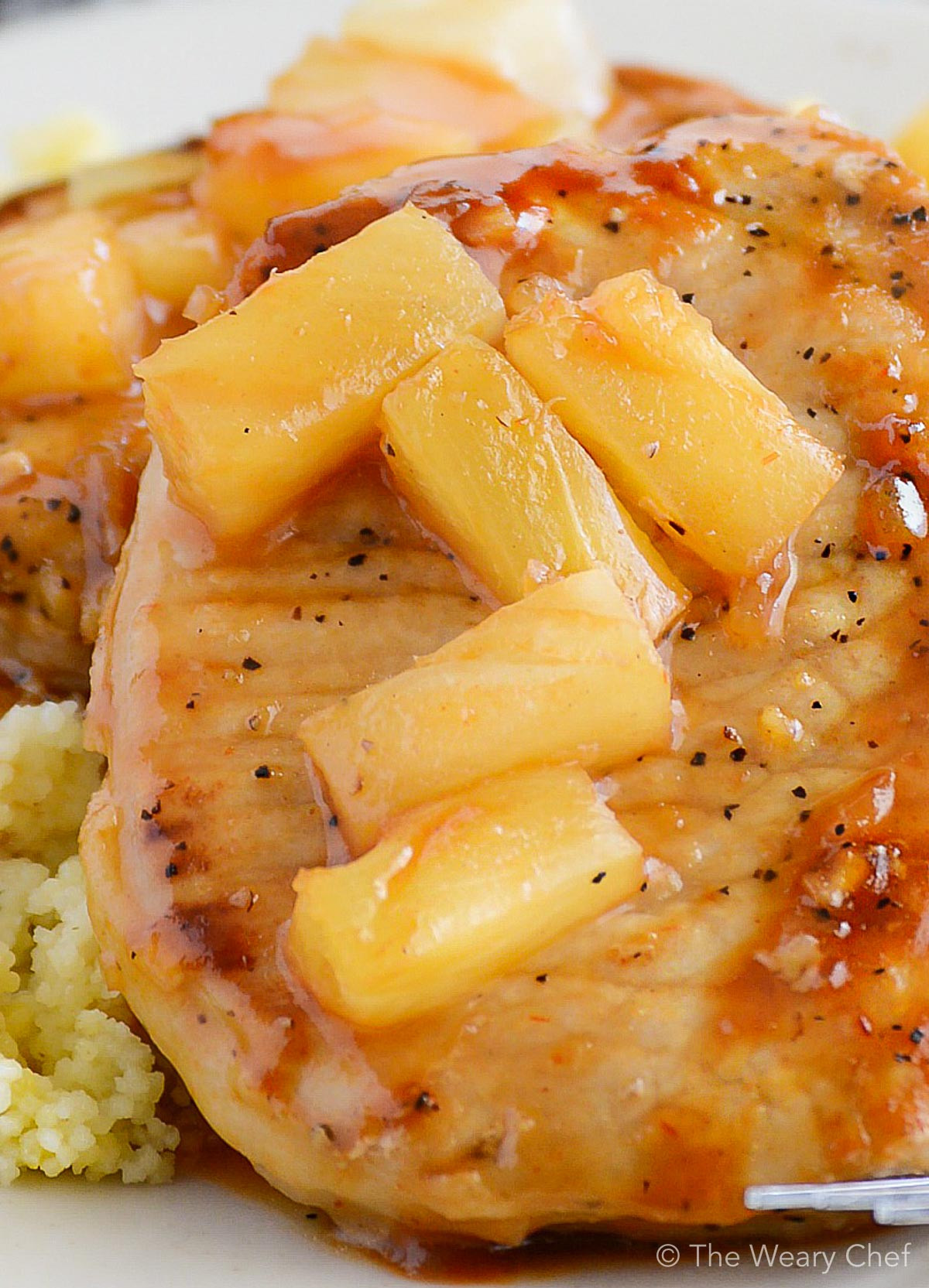 Pineapple Pork Chops  BBQ Pork Chops with Pineapple The Weary Chef