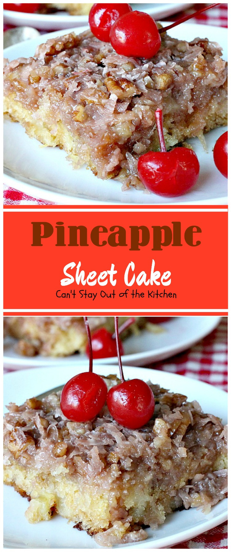 Pineapple Sheet Cake  Pineapple Sheet Cake Can t Stay Out of the Kitchen