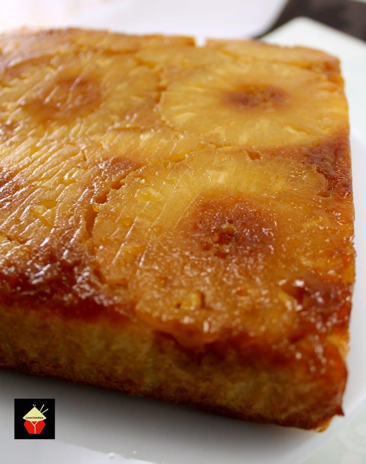 Pineapple Upside Cake  Easy Pineapple Upside Down Cake – Lovefoo s