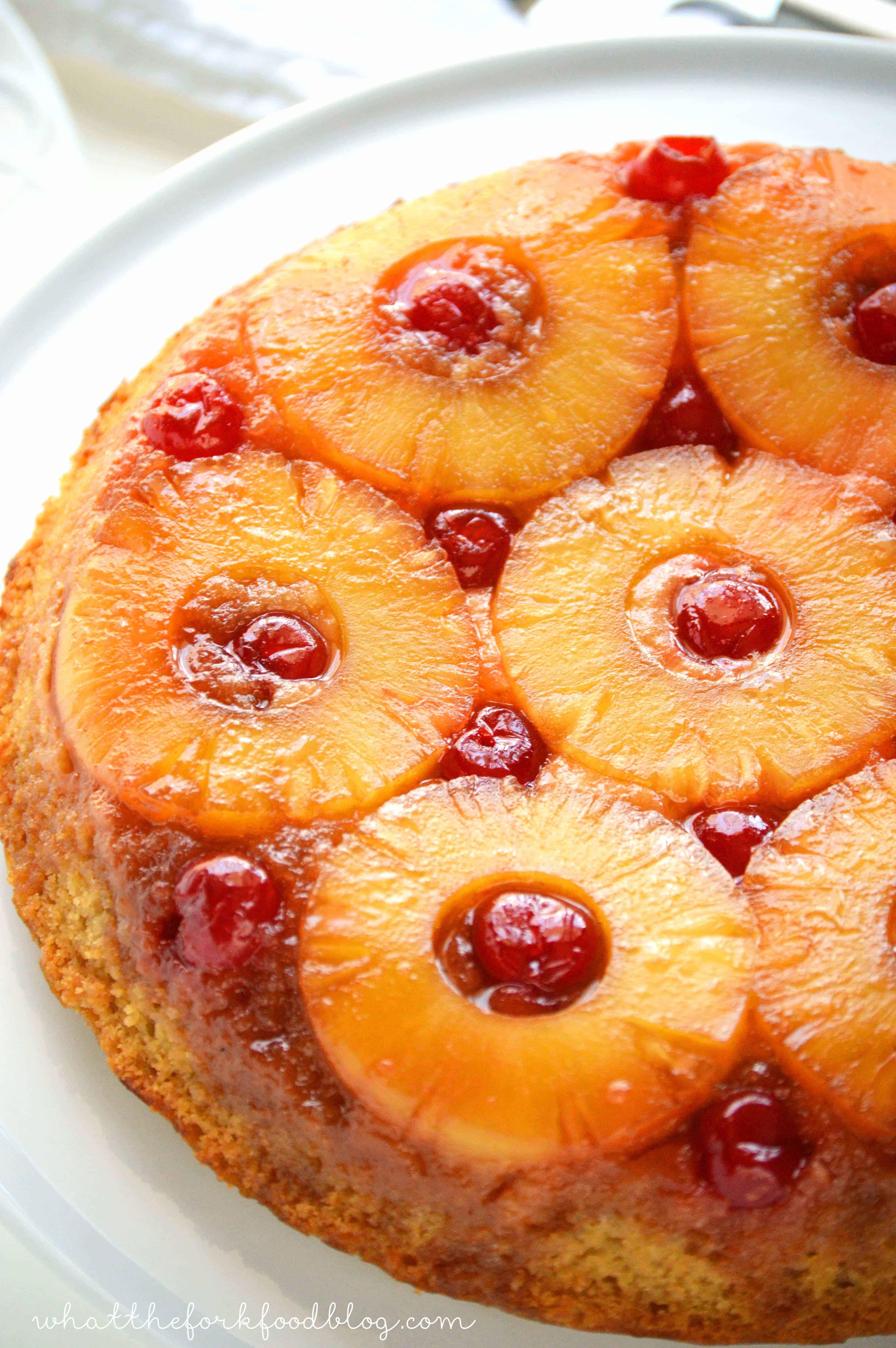 Pineapple Upside Cake  Gluten Free Pineapple Upside Down Cake What the Fork