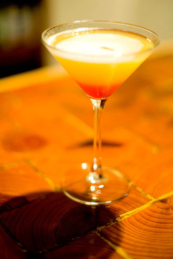 Pineapple Upside Down Cake Drink  Pineapple Upside Down Cake Martini cocktail recipe with