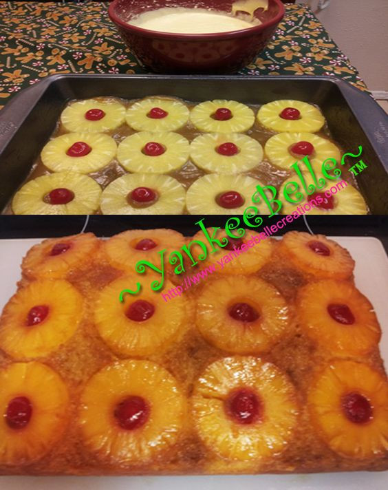 Pineapple Upside Down Cake Duncan Hines  Pineapple upside down cake Pineapple upside down and