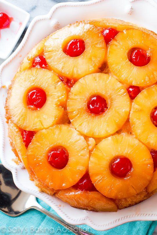Pineapple Upside Down Cake Recipe  Pineapple Upside Down Cake Sallys Baking Addiction