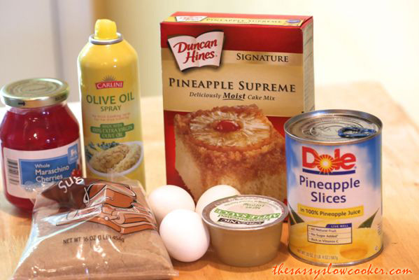 Pineapple Upside Down Cake Using Cake Mix And Crushed Pineapple  Pineapple Upside Down Cake Recipe The Sassy Slow Cooker