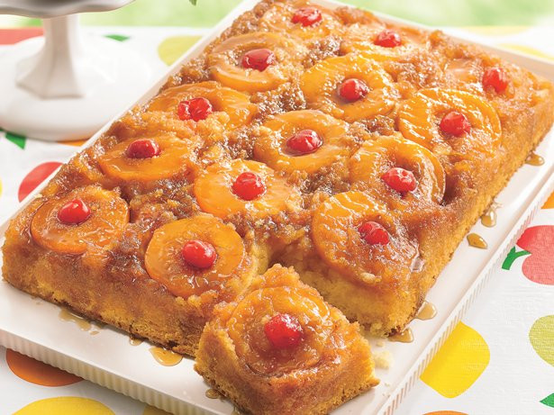 Pineapple Upside Down Cake Using Cake Mix And Crushed Pineapple  Peachy Pineapple Upside Down Cake recipe from Betty Crocker