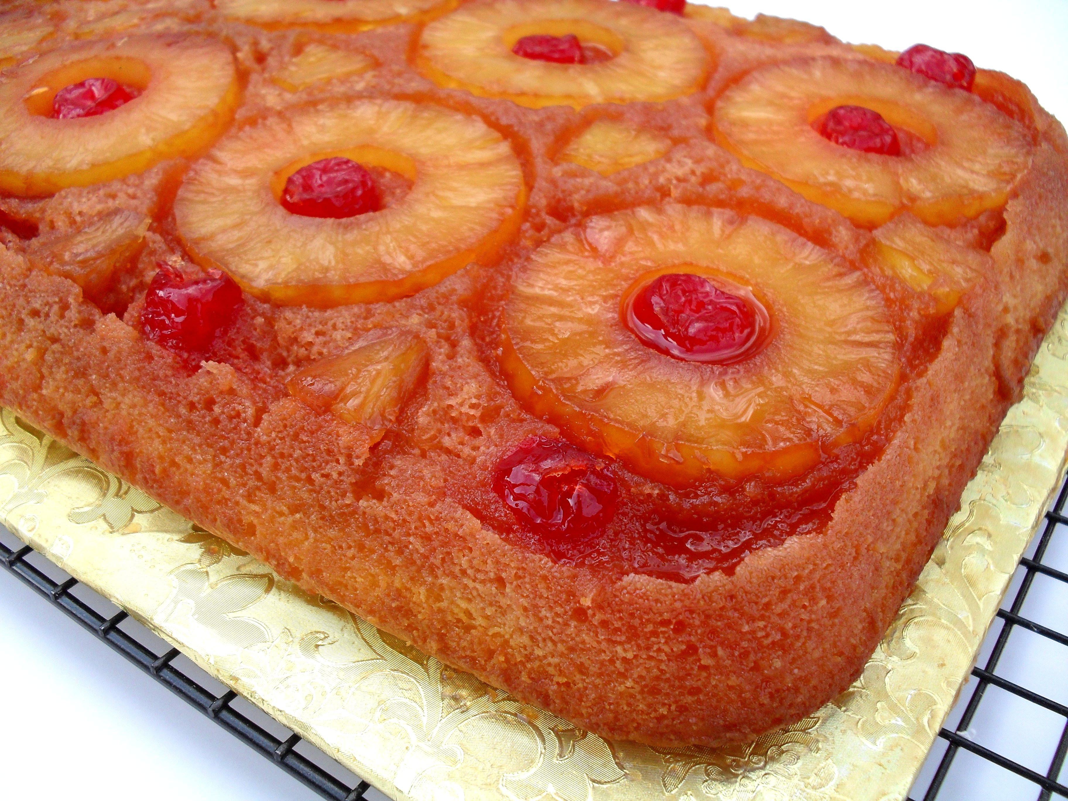 Pineapple Upside Down Cake Using Cake Mix  Easy Pineapple Upside Down Cake