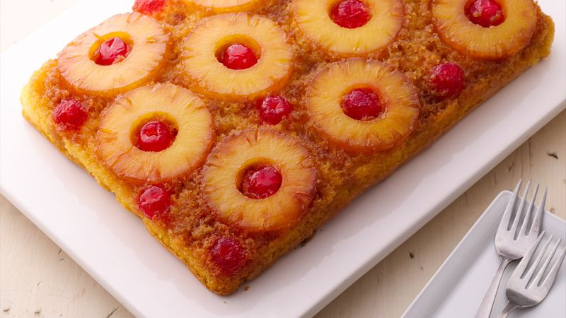 Pineapple Upside Down Cake Using Cake Mix  Easy Pineapple Upside Down Cake recipe from Betty Crocker