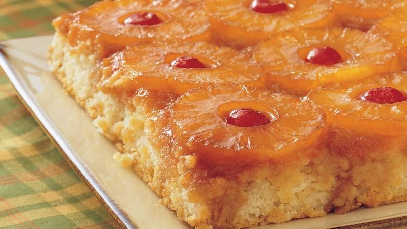 Pineapple Upside Down Cake With Crushed Pineapple  Pineapple Upside Down Cake recipe from Betty Crocker