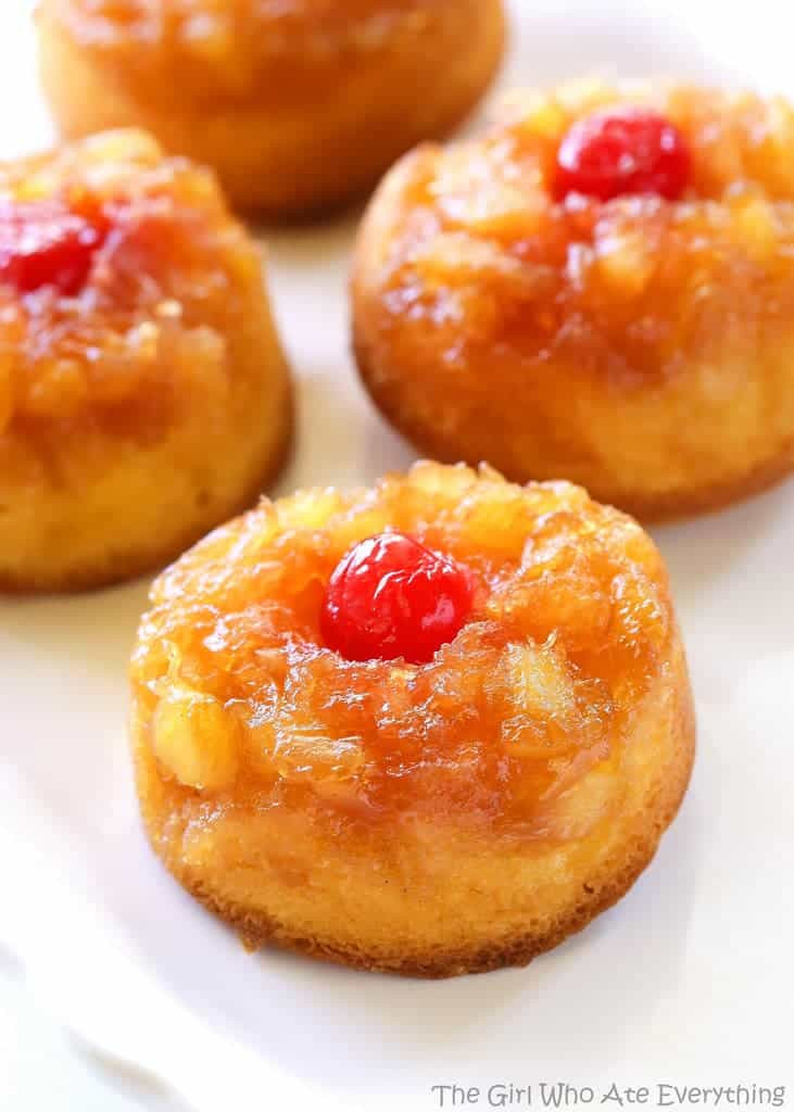 Pineapple Upside Down Cake With Crushed Pineapple  Pineapple Upside Down Cupcakes The Girl Who Ate Everything