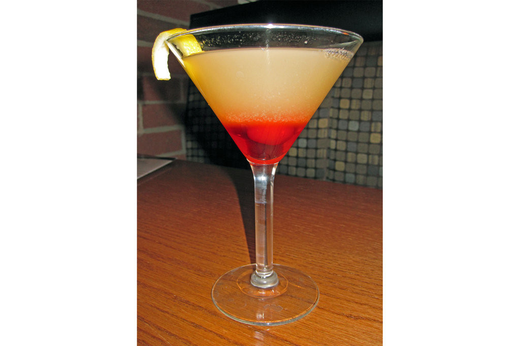 Pineapple Upsidedown Cake Martini  Local Eats Cafe Tutu Tango Aligator Meat& An Upside down