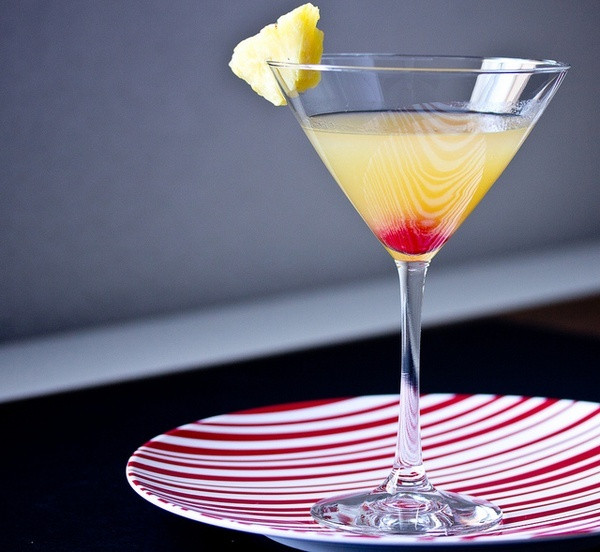 Pineapple Upsidedown Cake Martini  Pineapple upside down cake martini Beverages