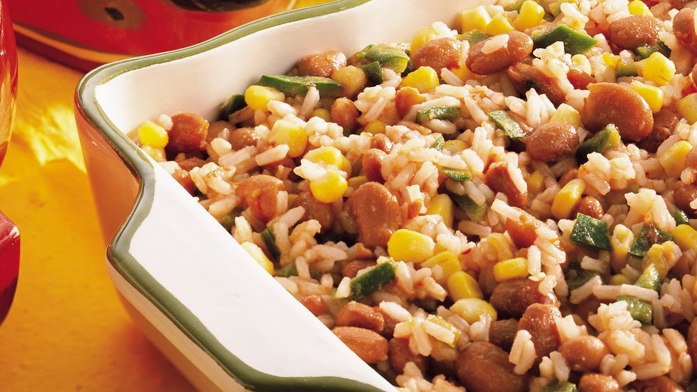 Pinto Beans And Rice  Fiesta Mexican Rice and Pinto Beans Recipe Pillsbury