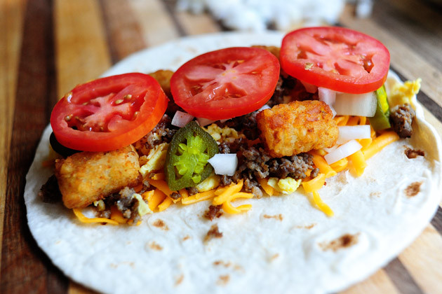 Pioneer Woman Breakfast Burritos  27 Tater tot dishes to instantly relive your childhood