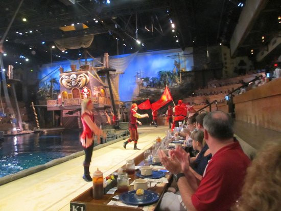 Pirate Dinner Myrtle Beach  The view from box J 1 Picture of Pirates Voyage Myrtle