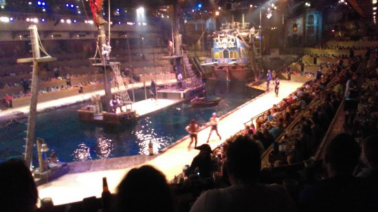 Pirate Dinner Show Myrtle Beach  view from our seats Picture of Pirates Voyage Myrtle