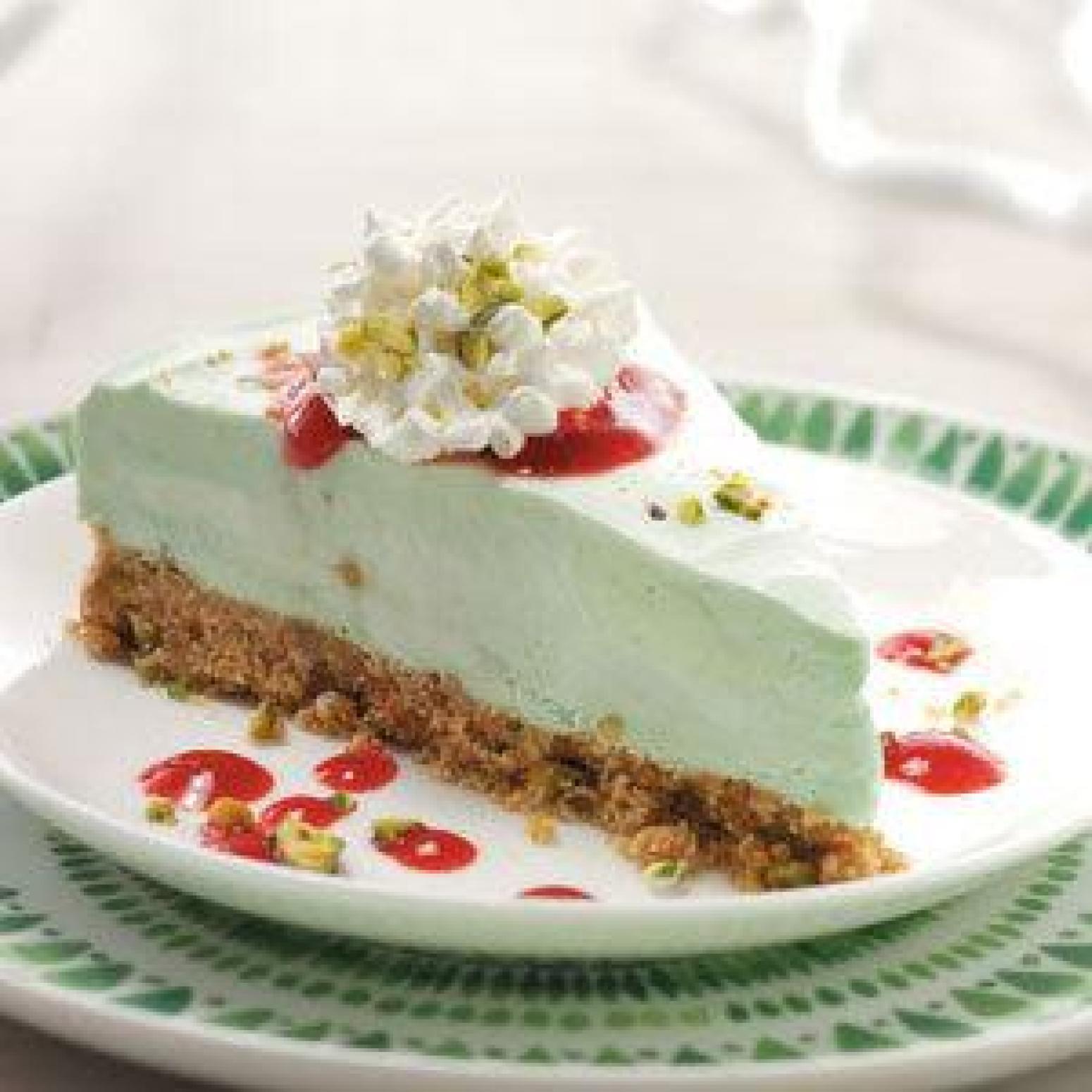 Pistachio Pudding Dessert Recipes  Frozen Pistachio Dessert With Raspberry Sauce Recipe
