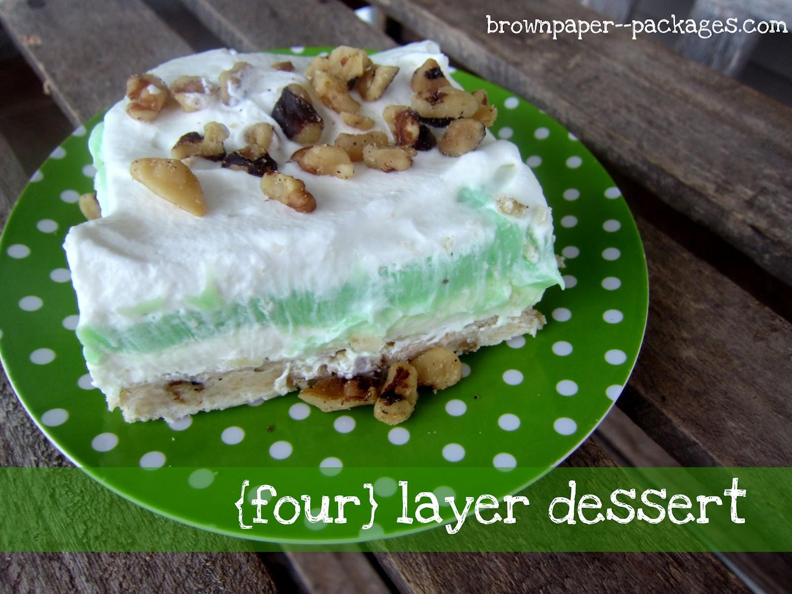 Pistachio Pudding Dessert  four layer dessert Simply Kierste Design Co