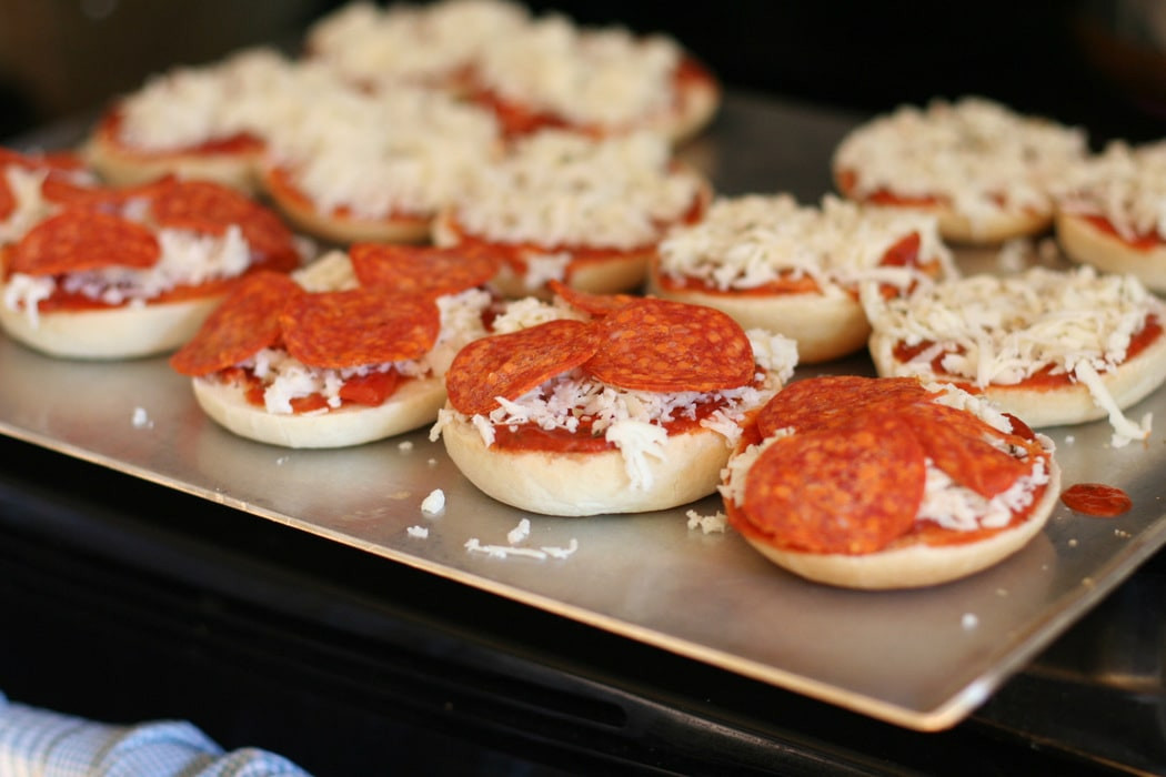 Pizza Bagels Recipe  How to Make Pizza Bagels aka hot weather pizza The