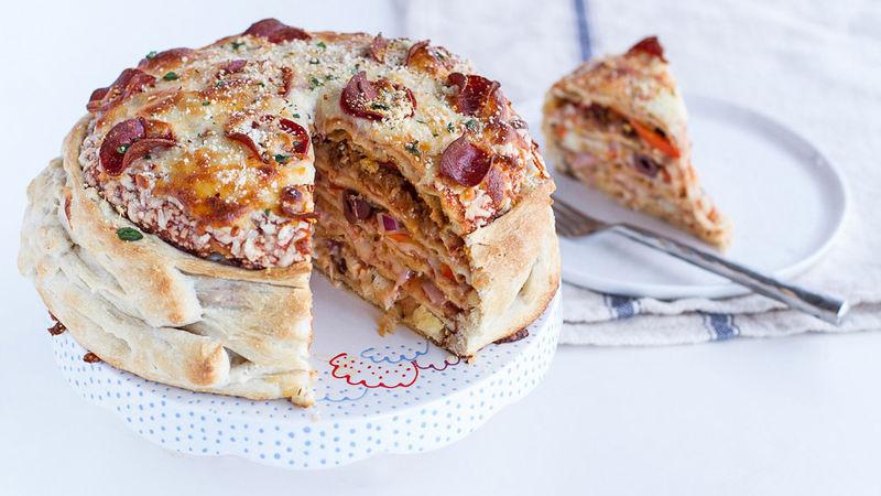 Pizza Cake Recipe  Pizza Cake recipe from Tablespoon