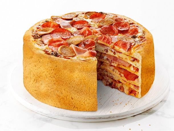 Pizza Cake Recipe  Brave New World Boston Pizza s Pizza Cake