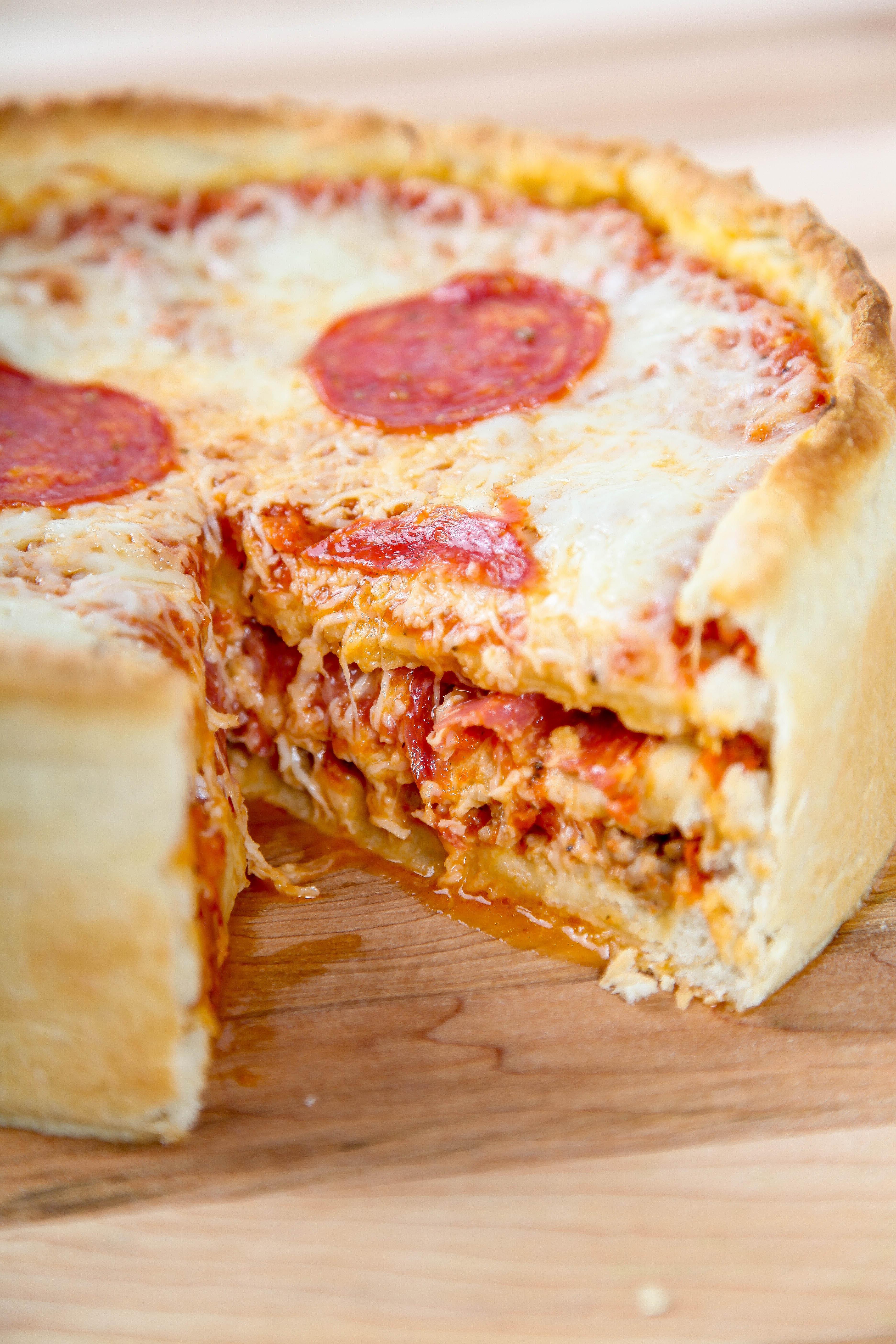 Pizza Cake Recipe  Pepperoni Pizza Cake Baking Beauty