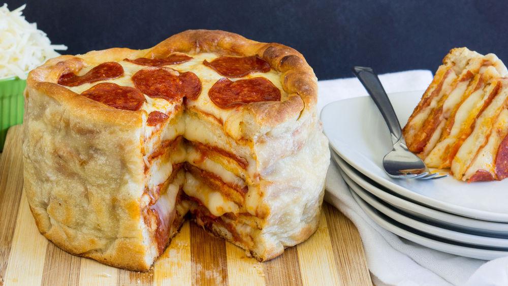 Pizza Cake Recipe  Pepperoni Pizza Cake recipe from Pillsbury