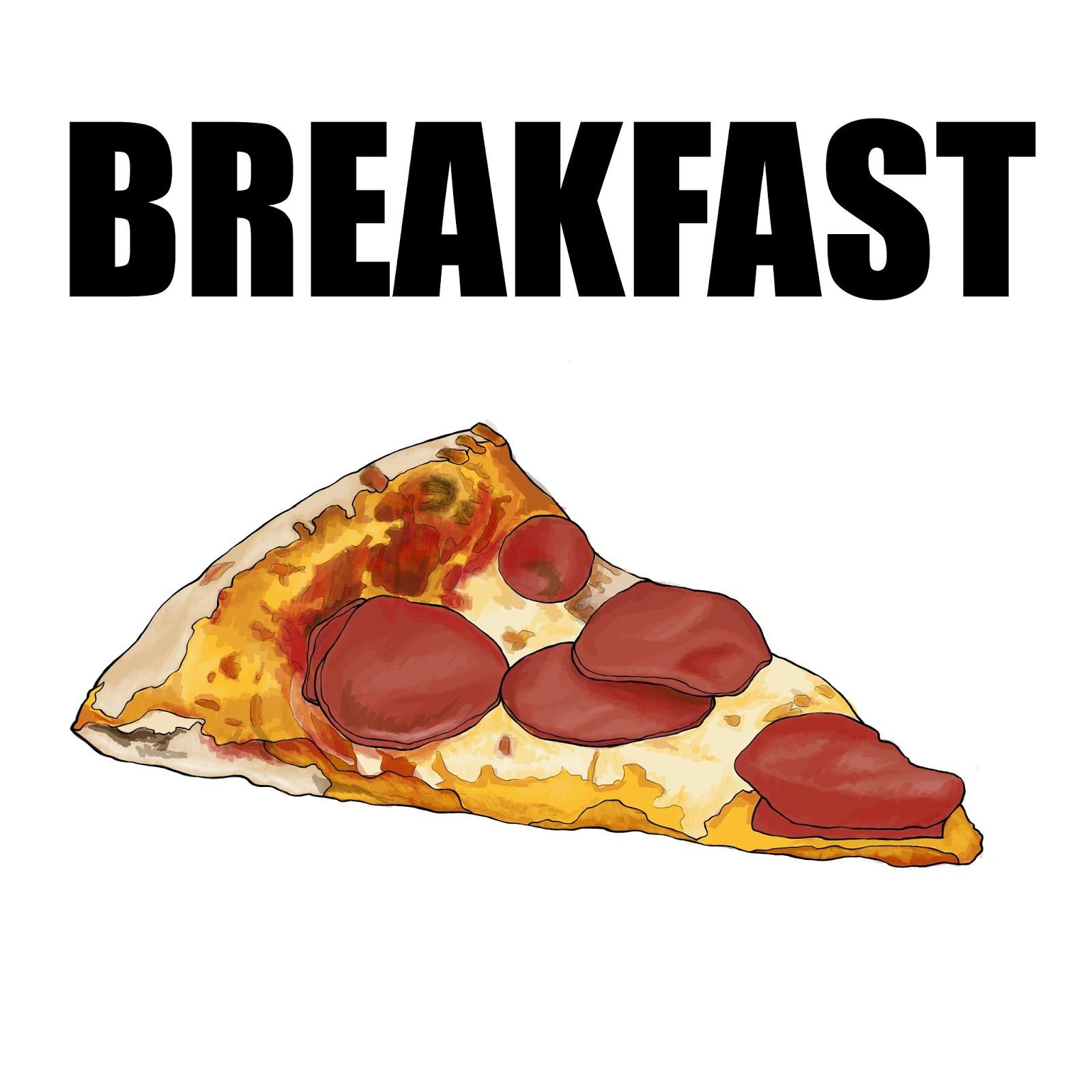Pizza For Breakfast  The Spinsterhood Diaries Tee Shirt Week Pizza for Breakfast