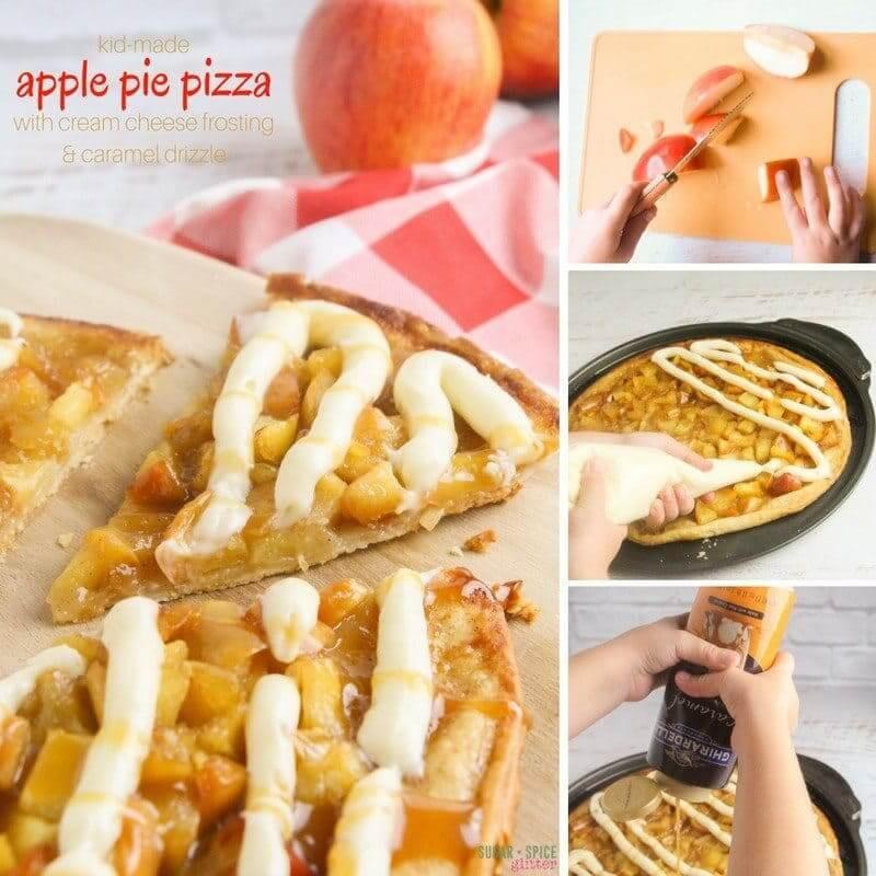 Pizza Hut Apple Pie  apple pizza dessert cream cheese