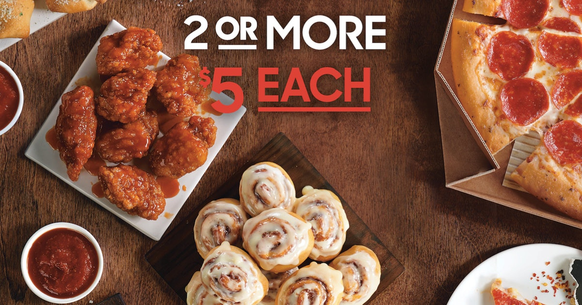 Pizza Hut Dessert Coupon  Pizza Hut s New $5 Deal Lets You Snag A Bunch Your