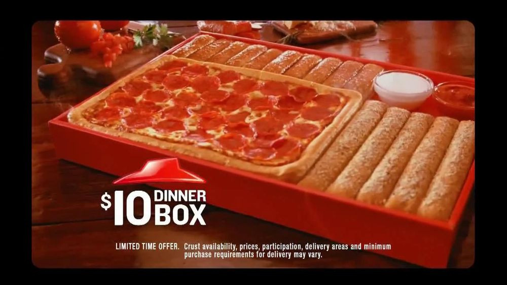 Pizza Hut Dinner Box  Pizza Hut TV mercial For $10 Dinner Box iSpot