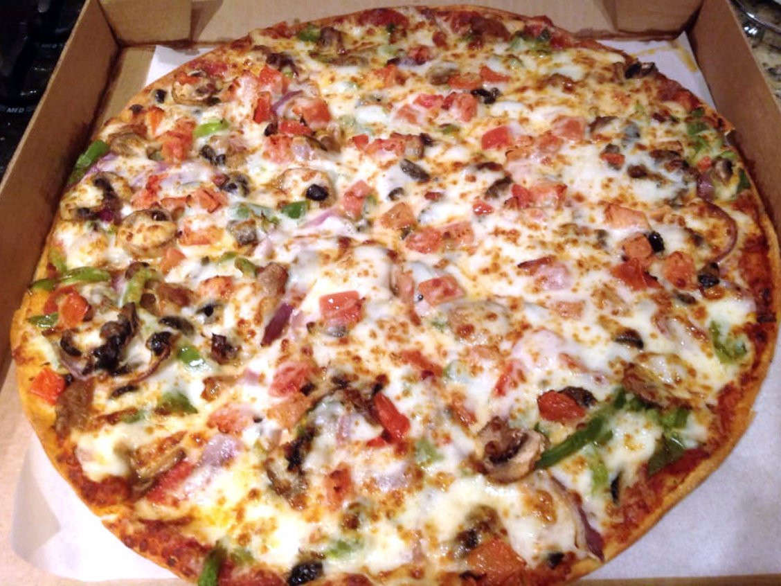 Pizza Hut Veggie Pizza  Healthiest items to order at fast food chains Business
