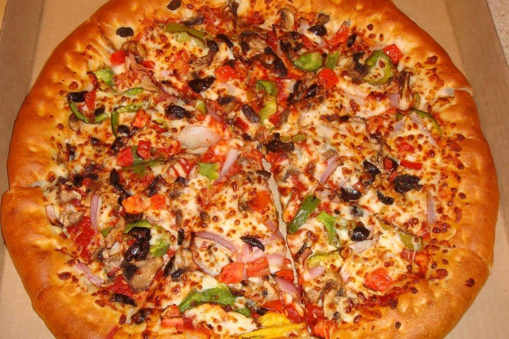 Pizza Hut Veggie Pizza  Veggie Lover s PIzza with stuffed crust Yelp